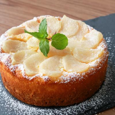 おもてなしにも最適 梨チーズケーキ
