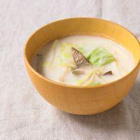 キャベツの豆乳生姜スープ