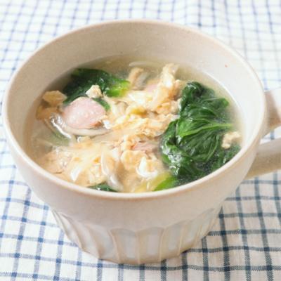 サラダ菜たまごスープ
