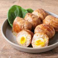 半熟うずらの卵入り肉巻きおにぎり