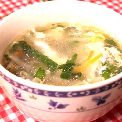 余った卵白で即席スープ