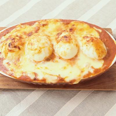 10分で作れる 丸ごとゆで卵のミートドリア