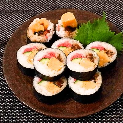 紅生姜たっぷり 巻き寿司