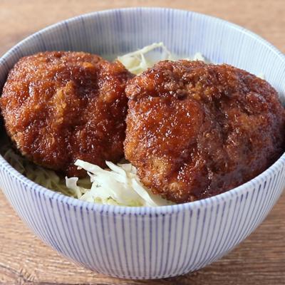 甘辛ソースメンチカツ丼