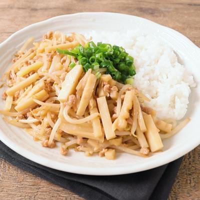 大豆ミートとタケノコのがっつり丼