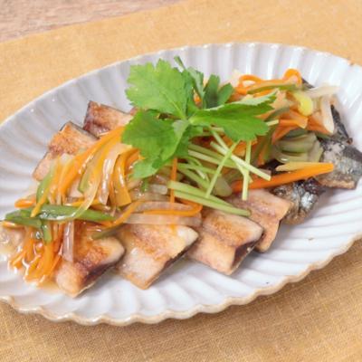秋刀魚のシャキシャキ生姜あんかけ