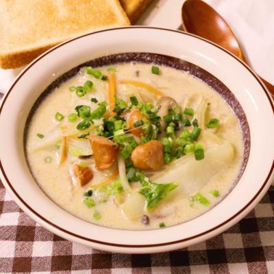 ほっこり温か豆乳と白菜のクリームスープ