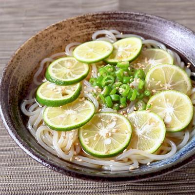 青唐辛子とすだちのさっぱり冷麺