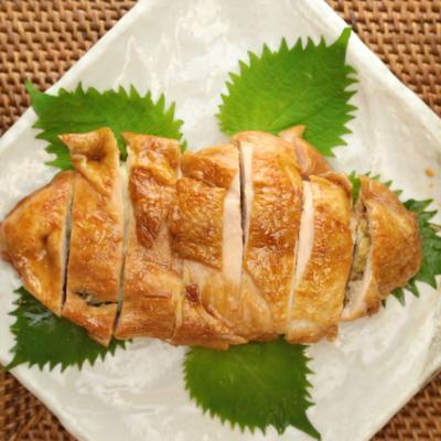 鶏むね肉の海苔チーズはさみ焼き