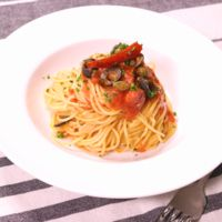 スパゲッティーニで作る本格プッタネスカ