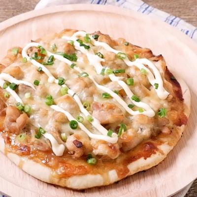 生地から作る 照り焼きチキンピザ