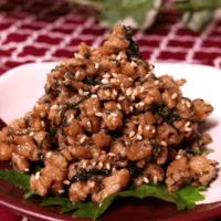 スタミナ満点!大葉入り肉味噌の常備菜