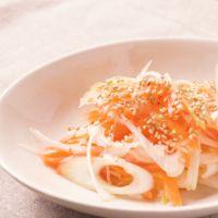 長ねぎとにんじんの中華風サラダ