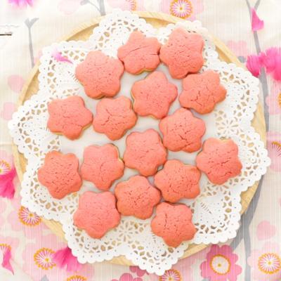 かわいい お花の3層クッキー