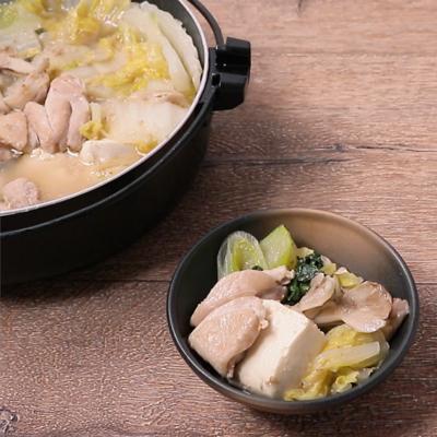 ごま香る 鶏ねぎ鍋