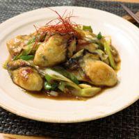 牡蠣の揚げ焼き甘辛炒め