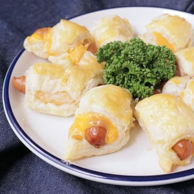 チーズウインナーのクロワッサン風ロール