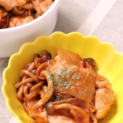 常備菜に 鶏もも肉のケチャップ炒め