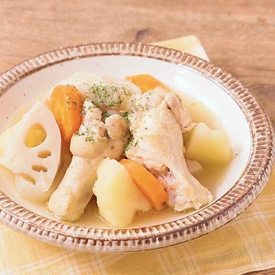 手作りブーケガルニで 鶏手羽元のポトフ