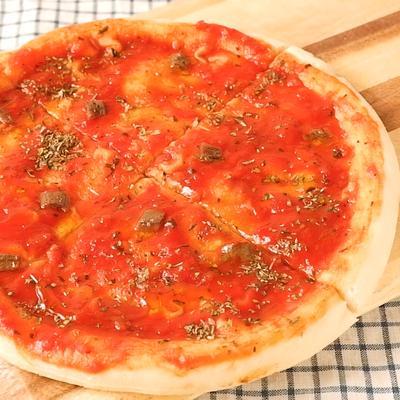 フライパンでお手軽 マリナーラ風ピザ