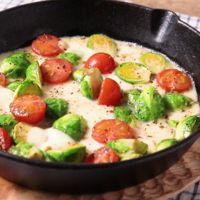 芽キャベツとモッツァレラチーズのグリル