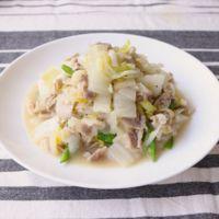 豚バラ肉と白菜の簡単塩麹炒め