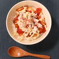 焼肉のタレで簡単!トマトキムチ丼