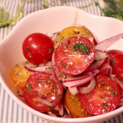 トマトとパセリの甘酸っぱ和え