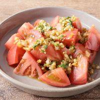 トマトの香味野菜ドレッシングサラダ
