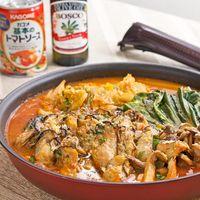 オリーブ香る!フライパンでつくるカキの簡単トマト鍋