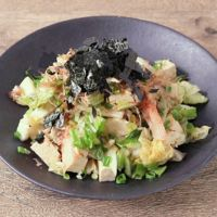 シャキシャキ白菜と木綿豆腐の和風サラダ
