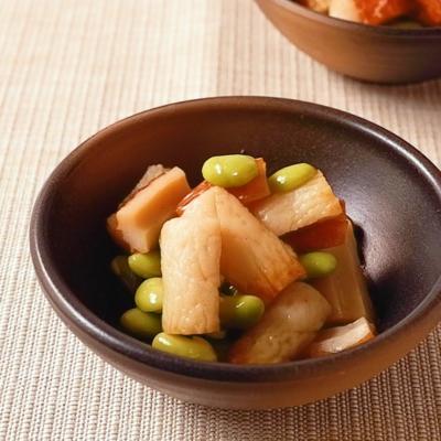 レンジで簡単ちくわと枝豆の甘辛煮