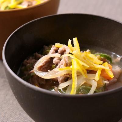 ゆず香る 牛肉スープ
