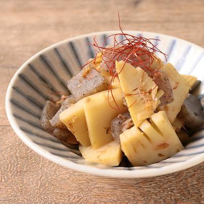 タケノコとこんにゃくの炒め煮