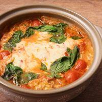 白菜と豚バラ肉のトマトチーズ鍋