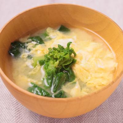 菜の花と卵の味噌汁