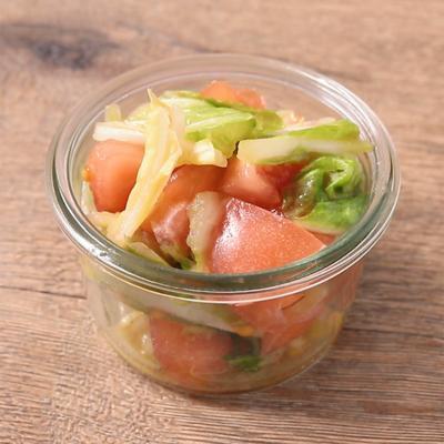 さっぱり 白菜とトマトの辛子酢和え