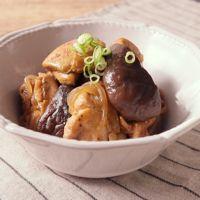 鶏肉とキノコのバルサミコ煮