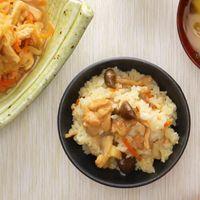 レンジで簡単 鶏肉の混ぜご飯
