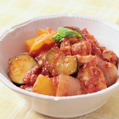 ラタトゥイユ風 鶏もも肉のトマト煮