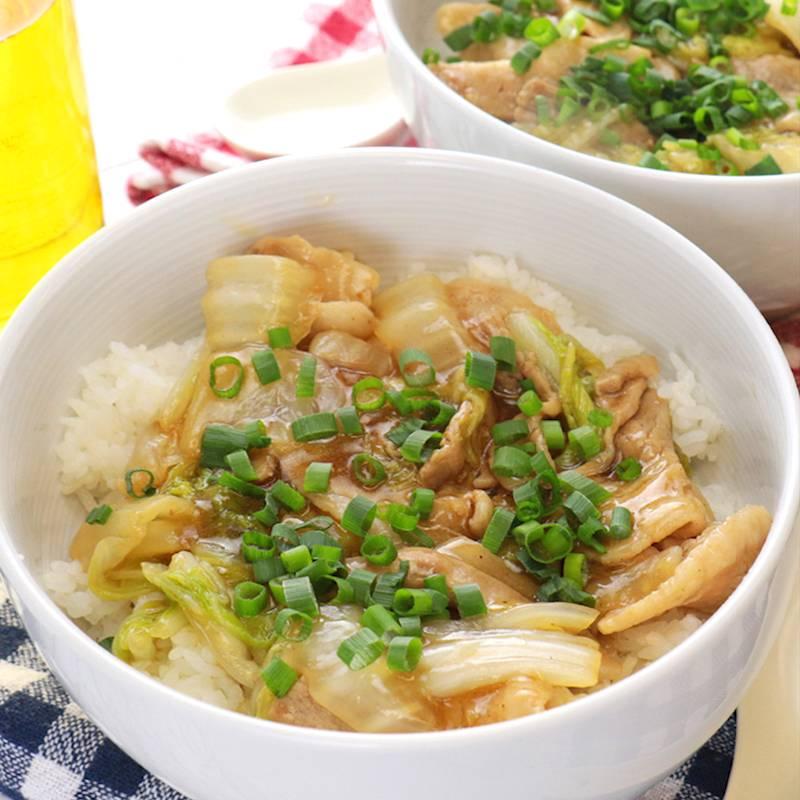 豚バラと白菜のあんかけ丼 作り方 レシピ クラシル