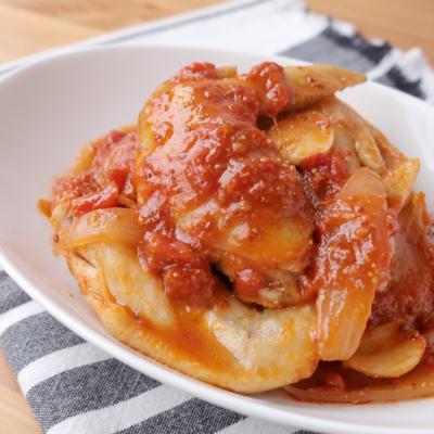手羽先のトマトマスタード煮
