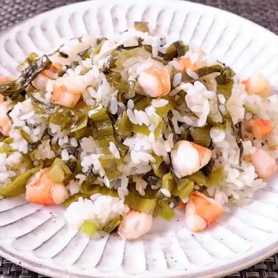 高菜とエビのチャーハン