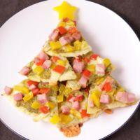 フライパンでぱぱっと ミニクリスマスピザ