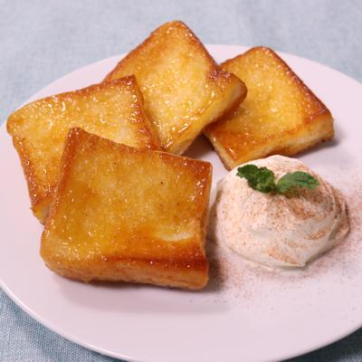 フライパンで作る クイニーアマン風トースト
