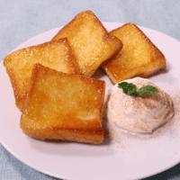 フライパンで作るクイニーアマン風トースト