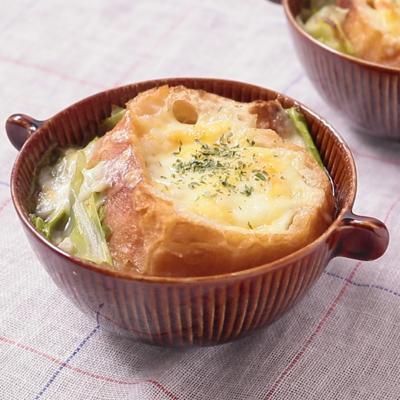 ぽかぽか キャベツのグラタンスープ