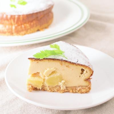 りんごのベイクドキャラメルチーズケーキ