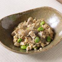 ごぼうと枝豆の炒り豆腐