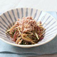 ツナと薬味野菜のレモン醤油サラダ